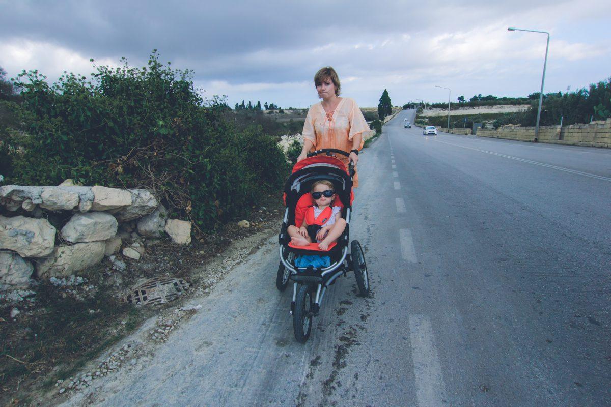 Z dzieckiem w wózku na wakacjach